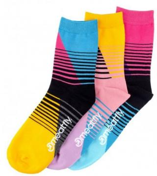 Meatfly 3 PACK - ponožky Color Scale socks - S19 Multi pack 36-39