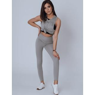 MEDA womens leggings light gray UY0791 dámské Neurčeno M