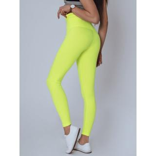 MEDA womens yellow leggings UY0788 dámské Neurčeno L
