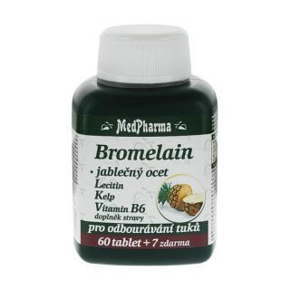 MedPharma Bromelain 300 mg   jablčný ocot   lecitín   kelp   vitamín B6 60 tbl.   7 tbl. ZD ARMA