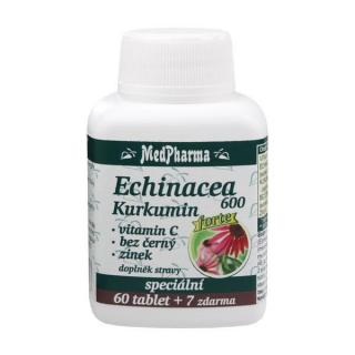 MedPharma Echinacea 600 Forte   kurkumín   vitamín C   baza čierna   zinok 60 tbl.   7 tbl. ZD ARMA