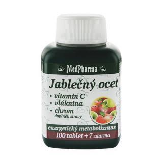 MedPharma Jablčný ocot   vitamín C   vláknina   chróm 100 tbl.   7 tbl. ZD ARMA -ZĽAVA - mastná etiketa