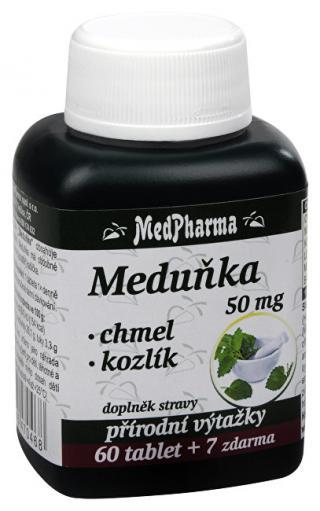 MedPharma Medovka 50 mg   chmeľ   valeriána 60 tbl.   7 tbl. ZADARMO
