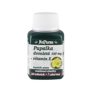 MedPharma Pupalka dvouletá 500 mg   vitamín E 30 tob.   7 tob. ZDARMA