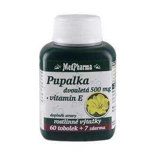 MedPharma Pupalka dvouletá 500 mg   vitamín E 60 tob.   7 tob. ZDARMA
