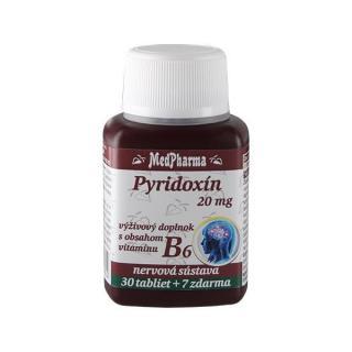 MedPharma Pyridoxin 20 mg – doplněk stravy s obsahem vitamínu B6 30 tbl.   7 tbl. ZDARMA