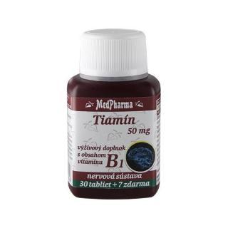 MedPharma Tiamín 50 mg - doplnok stravy s obsahom vitamínu B1 30 tbl.   7 tbl. ZD ARMA -ZĽAVA - poškodená etiketa