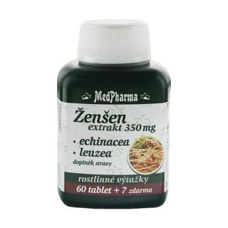 MedPharma Ženšen 350 mg   echinacea   leuzea 60 tbl.   7 tbl. ZDARMA