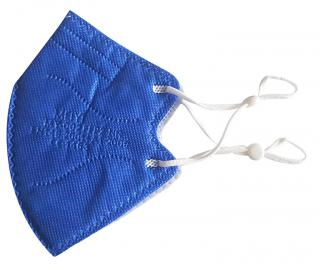 MEIYI Dětský respirátor FFP2 NR tmavě modrý – 10 ks
