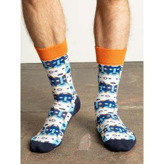 Men´s navy blue and blue socks pánské Other 41-46