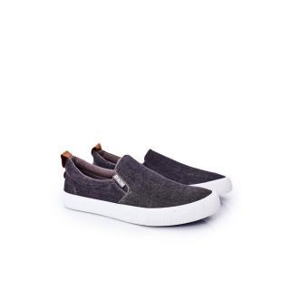 Mens Slip-On Sneakers Big Star DD174162 Grey pánské Other 40