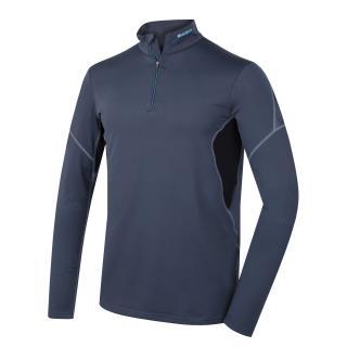 Mens thermo T-Shirt HUSKY ACTIVE WINTER TRIKO DL ZIP - M šedá L