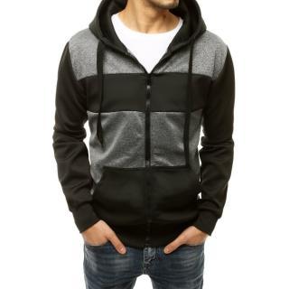 Mens zipped hoodie dark gray BX4851 pánské Neurčeno XXL