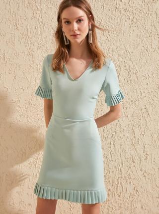 Mentolové šaty Trendyol dámské mentolová L
