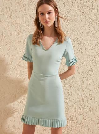 Mentolové šaty Trendyol - L dámské zelená L