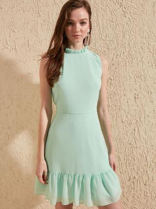 Mentolové šaty Trendyol - XL dámské zelená XL