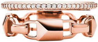 Michael Kors Moderné dvojitý strieborný prsteň MKC1025AN791 55 mm