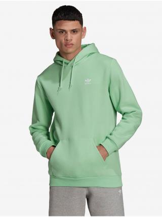 Mikiny s kapucou pre mužov adidas Originals - zelená pánské M