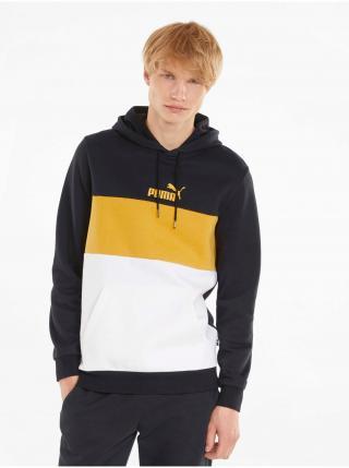 Mikiny s kapucou pre mužov Puma - čierna, biela, žltá pánské L
