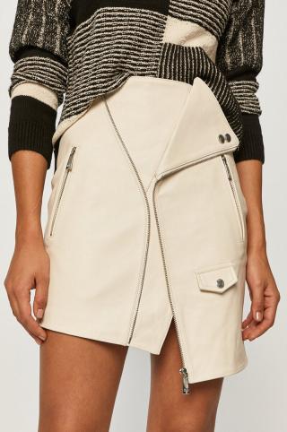Miss Sixty - Kožená sukňa dámské biela XS