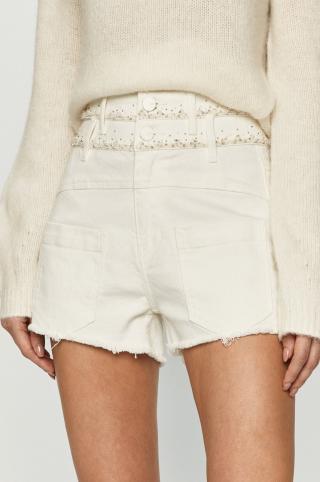 Miss Sixty - Rifľové krátke nohavice dámské biela 26