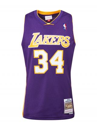 Mitchell & Ness Funkčné tričko LA LAKERS - NBA SWINGMAN  biela / žltá / tmavofialová pánské L