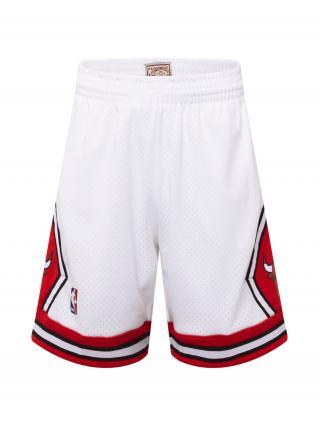 Mitchell & Ness Nohavice CHICAGO BULLS  biela / červená / tmavomodrá pánské 33