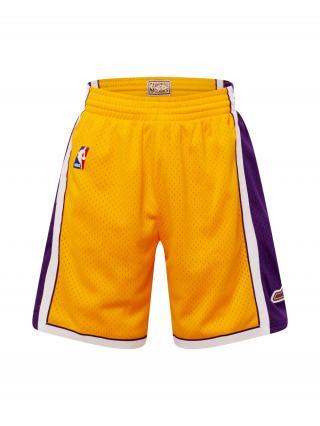 Mitchell & Ness Nohavice LOS ANGELES LAKERS   zlatá žltá / tmavofialová / biela pánské 31-32