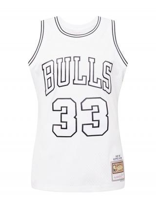Mitchell & Ness Tričko  biela / čierna pánské S