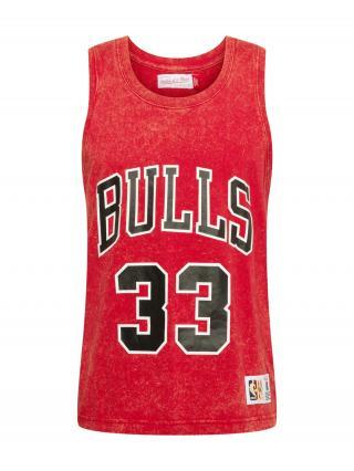 Mitchell & Ness Tričko  červená / čierna / biela pánské S