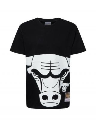 Mitchell & Ness Tričko  čierna / biela pánské S