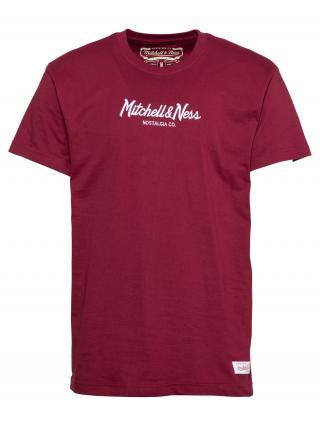 Mitchell & Ness Tričko PINSCRIPT  burgundská / biela pánské XS