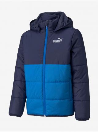 Modrá chlapčenská prešívaná bunda Puma Cb Padded Jacket B 104