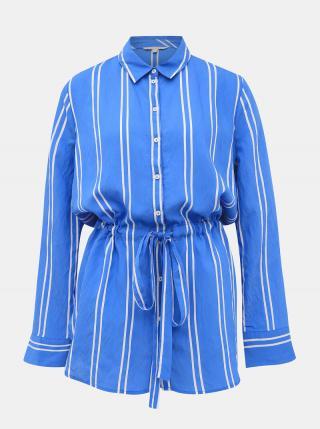 Modrá dámska pruhovaná košeľa Tom Tailor Denim dámské M