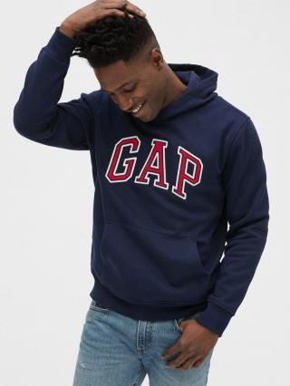 Modrá pánska mikina GAP Logo Hoodie pánské XS
