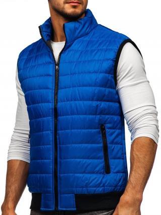 Modrá pánska prešívaná vesta Bolf MY77 M