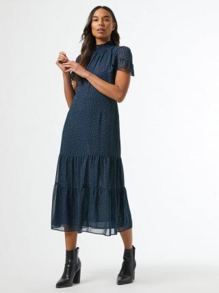 Modré bodkované midišaty Dorothy Perkins dámské modrá XL