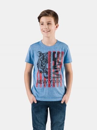 Modré chlapčenské tričko s potlačou SAM 73 modrá 128