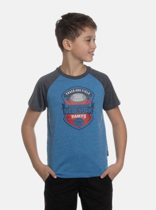 Modré chlapčenské tričko s potlačou SAM 73 modrá