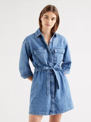 Modré dámske rifľové šaty Levis® dámské modrá S