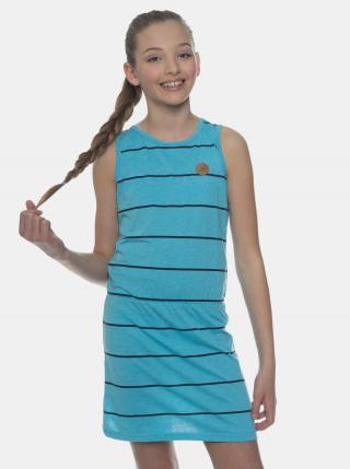Modré dievčenské pruhované šaty SAM 73 modrá