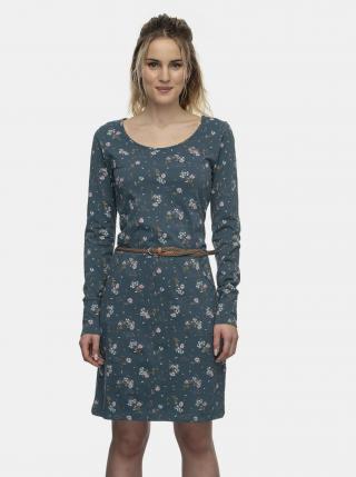 Modré kvetované šaty Ragwear dámské modrá L