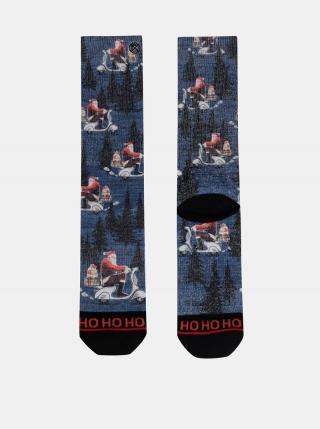 Modré pánske ponožky s vianočným motívom XPOOOS pánské modrá 39-42