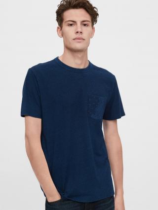Modré pánske tričko GAP pánské modrá 3XL