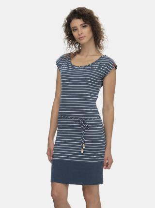 Modré pruhované šaty Ragwear Soho Stripes - L dámské modrá L