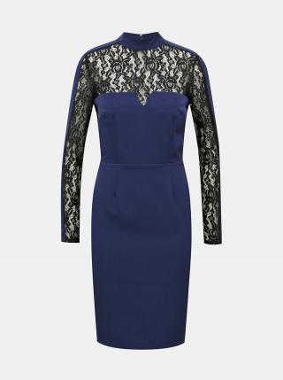 Modré púzdrové šaty Paper Dolls dámské modrá XS