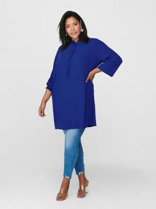Modré šaty ONLY CARMAKOMA Radavana dámské modrá 48