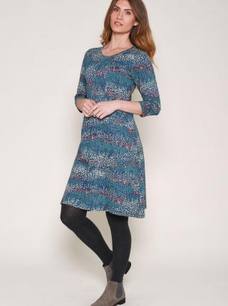 Modré vzorované šaty Brakeburn dámské modrá M
