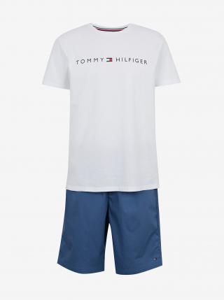 Modro-biele pánske pyžamo Tommy Hilfiger pánské biela M