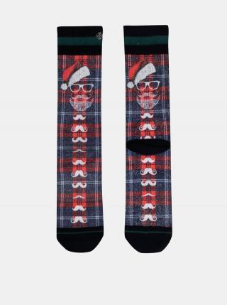 Modro-červené pánske ponožky s vianočným motívom XPOOOS pánské modrá 43-46